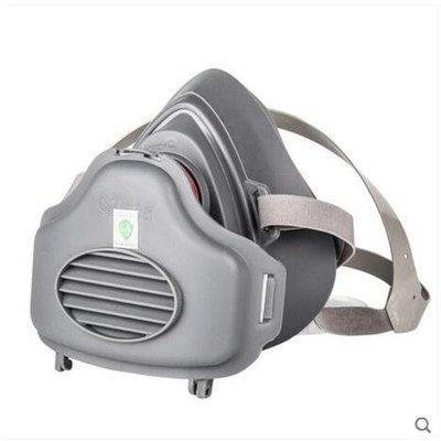 防毒面具3M 防塵口罩面具呼吸閥透氣防工業灰粉塵打磨電焊裝修煤礦面罩