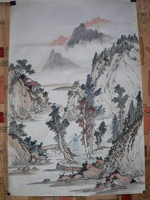乖乖@賣場~(油畫 書法 字畫)國畫山水圖 風景畫~名家畫~無款(AZ111)