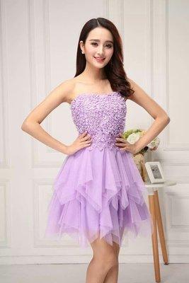 天使佳人婚紗禮服旗袍~~~~宴會晚禮服短款修身優雅小禮服