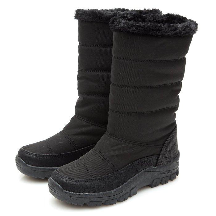 Selly outlet 正韓 2WAY絨毛車線太空中筒雪靴(KR215)黑色3號 NG296