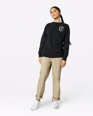 [麥修斯]CONVERSE VARSITY ELEVATED FLEECE 大學T 經典 女 10019109-A01