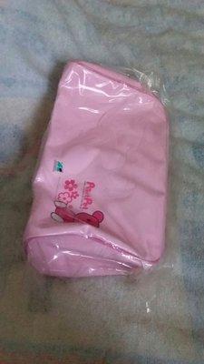 麗嬰房^_^MOMO熊粉紅色鏡面手提袋