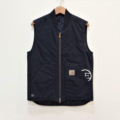 [ VINTAGE ] uniform experiment UE x CARHARTT 11 深藍色鋪棉背心