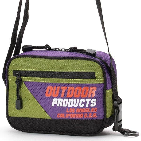 【Mr.Japan】日本限定 OUTDOOR 肩背 側背包 logo 熱賣 撞色 潮流 外出包 小包 綠x紫 預購款