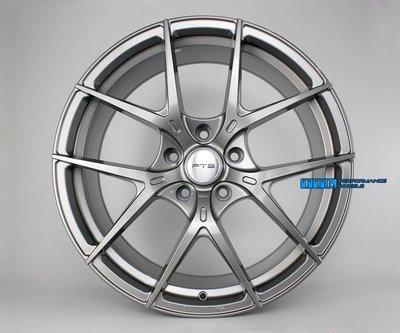 FLOW FORMING旋壓輕量化 FTS名牌GT10 19吋前後配鋁圈8.5J+9.5J 5*112~120適用 鈦灰
