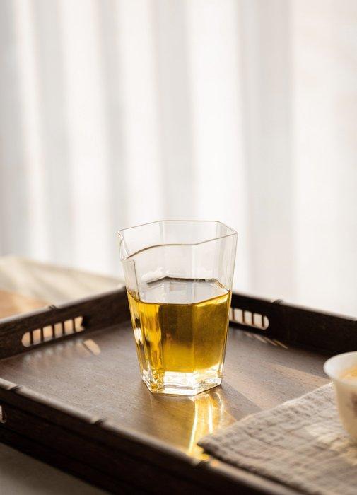 【茶嶺古道】晶透 六角玻璃勻杯/ 茶海 分茶杯 公道杯 勻杯 分茶器 母杯 茶盅 無把 功夫茶具
