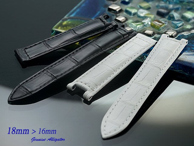 【時間探索】進口純正鱷魚皮 - Cartier Pasha 帕夏 代用短版高級錶帶 18mm