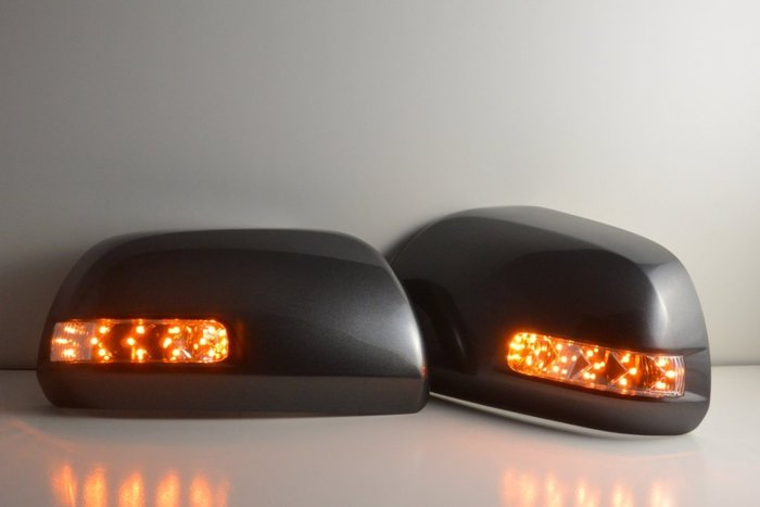 金強車業 TOYOTA RAV4 日行燈 改裝後視鏡殼 (銀1D4) 單功能側燈  方向燈