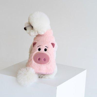 貝果貝果 韓國 DENTISTS APPOINTMENT  玩具總動員 Fleece 背心夾克  撲滿豬 火腿