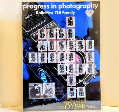 罕有經典绝版:(1920-1995)75週年珍藏版Rolleiflex雙鏡相機家族膠海報1張