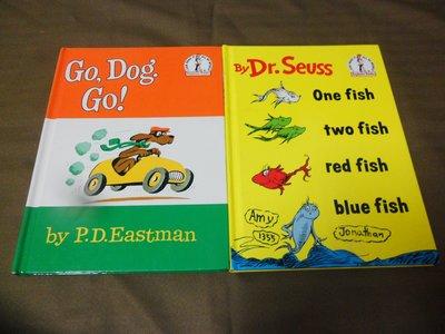 【彩虹小館】L3英文童書~GO,DOG.GO!+ONE FISH TWO FISH..共2本精裝本~Dr. Seuss