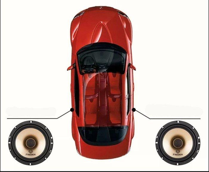 全新freder 兩音路同軸 6.5吋喇叭 s165 全車系適用 蜘蛛 pioneer