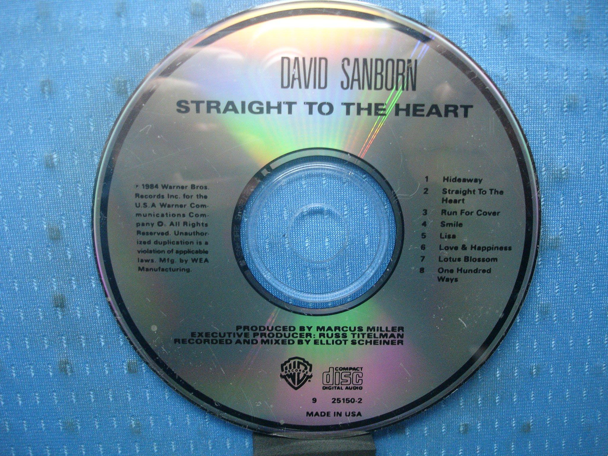 [無殼光碟]GP  David Sanborn  Straight to the Heart