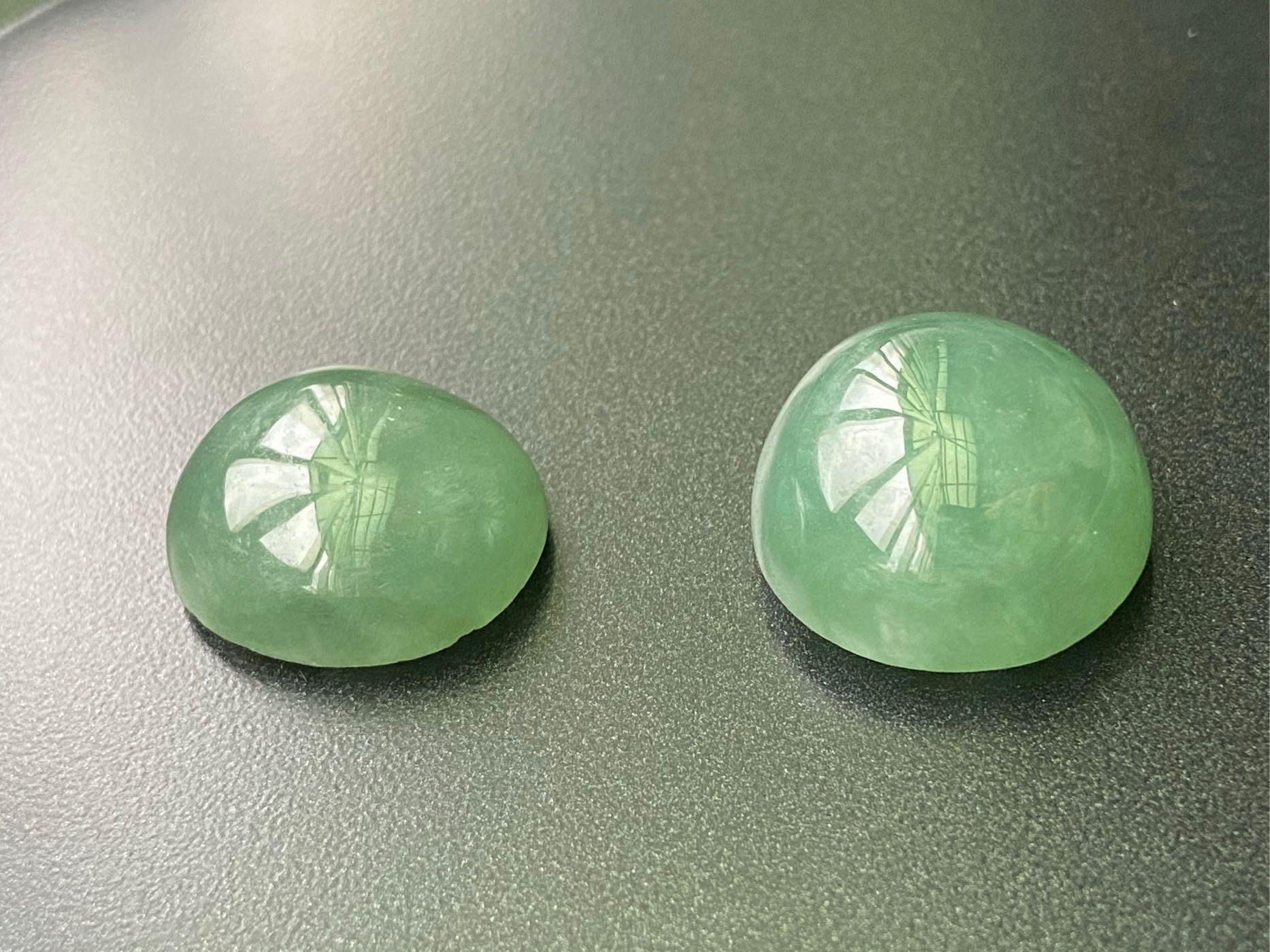A貨翡翠,冰芙蓉種滿色水草綠恐龍蛋2顆(不單賣)