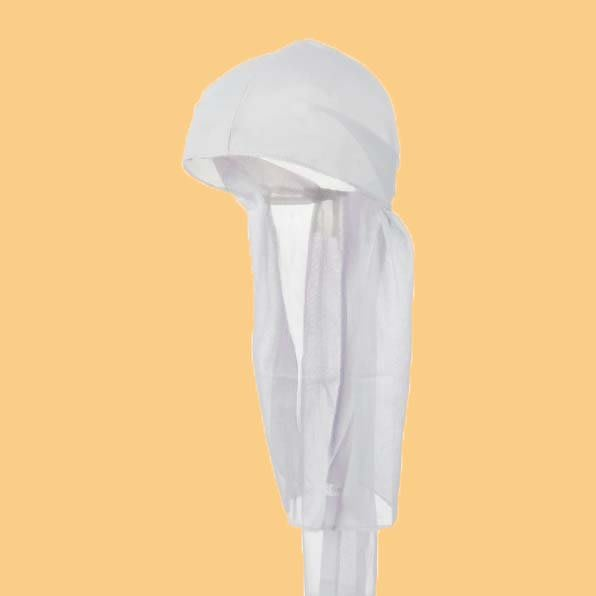 JCI:Du-rag 黑人綁帶頭巾 (白色) A$AP / 嘻哈 / 古著 / Travis / Hip-Hop