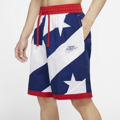 南◇2020 7月 NIKE DRY THROWBACK 籃球短褲 白藍紅 球褲 內裡 星星   CK6312-492