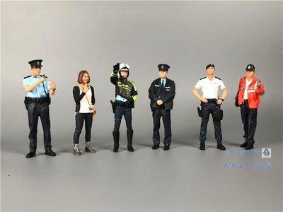 車模擺件1:18 帕加尼 柯尼塞格 車模新品場景  警車 交警 人偶雕像模型 警告牌禮物禮品 台北市