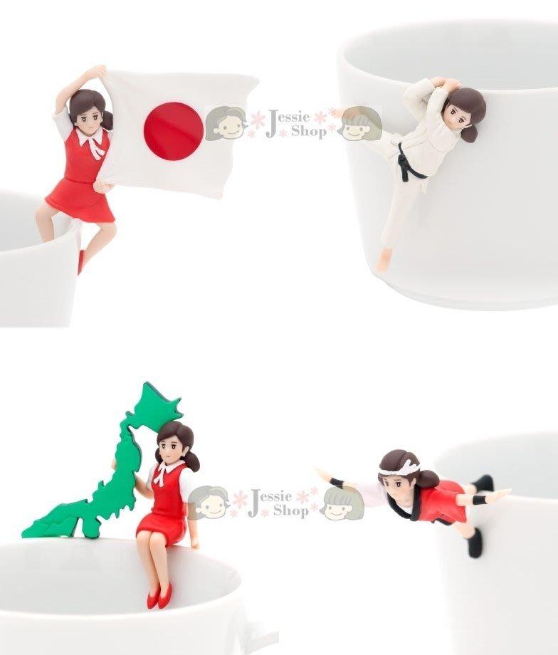 日版 KITAN CLUB 奇譚俱樂部 JAPAN 日本象徴事物 日本篇 杯緣子 杯緣女孩 OL人形 盒玩 4款一組