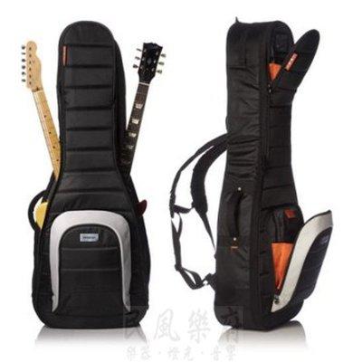《民風樂府》美國 MONO Dual M80-2A-BLK 木吉他+電吉他 雙吉他袋 可免息分期