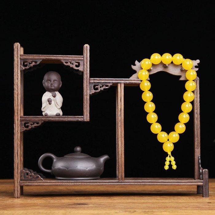 【賣女孩的小火柴】J茶具架 博古架小型收納架中式茶壺茶杯置物架多寶閣實木紫砂壺茶杯擺件展示架