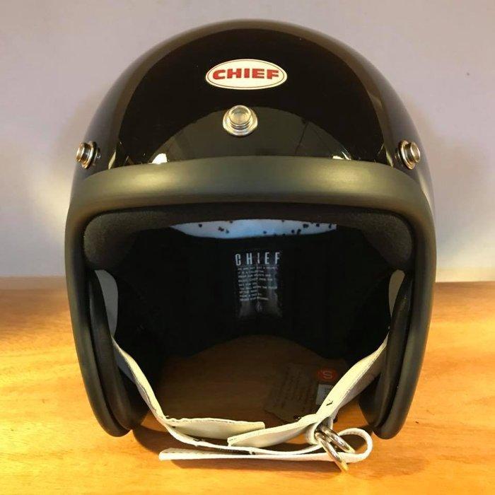 (I LOVE樂多) Chief Helmet TX500 3/4 小帽體安全帽 黑色 喜愛BELL BUCO 可參考