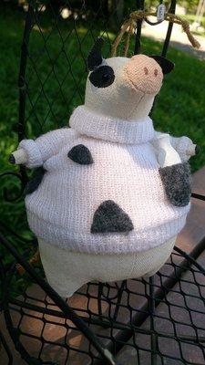 愛乳牛吊飾布偶 : 乳牛 娃娃 帆布 個性 收藏 裝飾 布偶