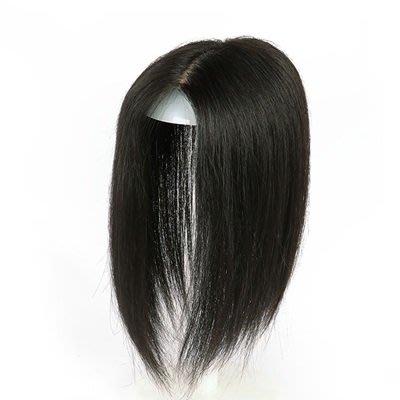 ☆溫蒂假髮屋☆假髮片真髮絲-隱形透氣頭頂補髮女假髮2色73uf5