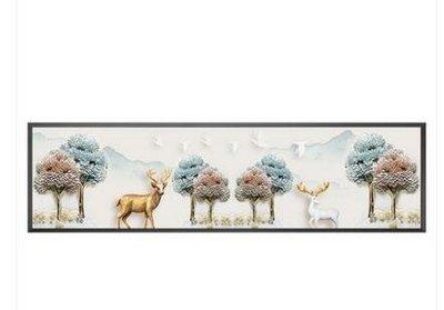 ZIHOPE 臥室裝飾畫床頭現代簡約北歐掛畫橫幅客廳沙發背景墻壁畫溫馨墻畫ZI812