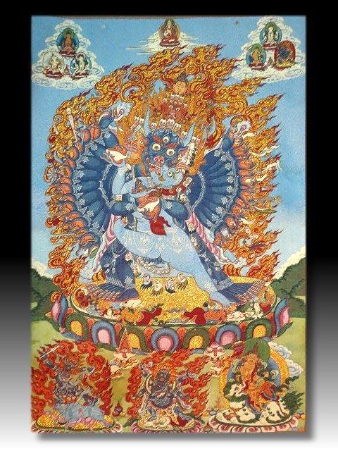 【 金王記拍寶網 】S1616  中國西藏藏密佛像刺繡唐卡  刺繡 (大)一張 完美罕見~