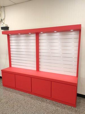 大豐LED玻璃櫥-萬用槽板櫃、展示櫃、珠寶櫃、飾品櫃、精品櫃、手機櫃、鐘錶櫃、玻璃櫃