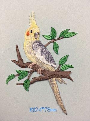 IAN'S 刺繡設計  鸚鵡--繡花貼布/繡花貼紙