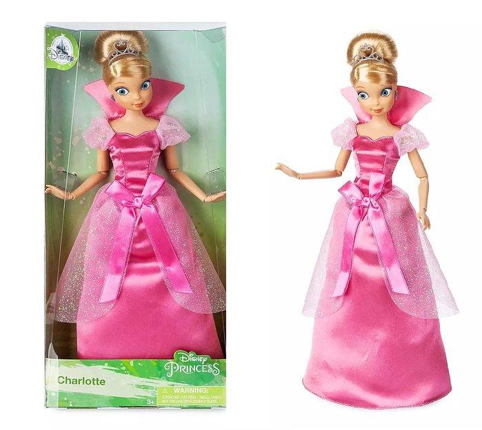【美國大街】正品.美國迪士尼公主與青蛙夏洛蒂芭比 艾樂兒芭比 小樂芭比 11吋/ 28cm