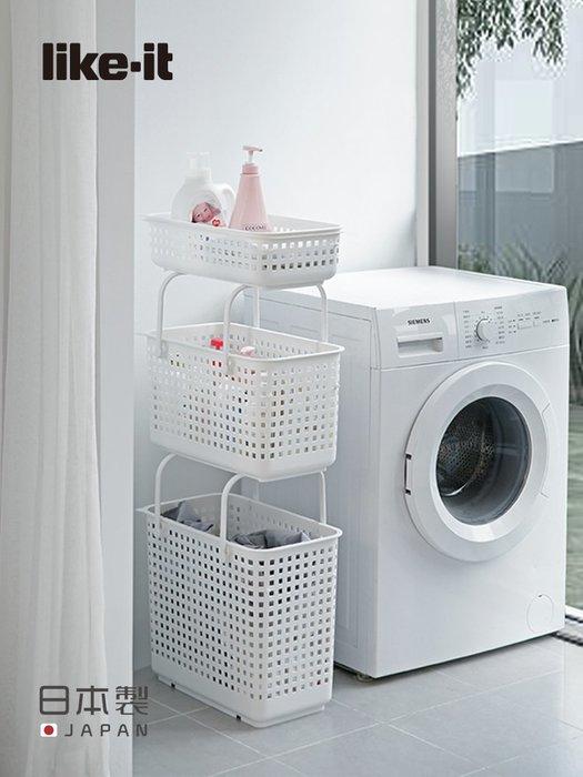 like-it日本制分類收納籃廚房果蔬零食塑料收納筐浴室夾縫洗衣籃家居日用