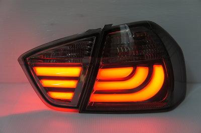 @Tokyo東京車燈部品@BMW E90 05 06 07 08 09 前期專用 類F10 光柱燻黑尾燈一組6500