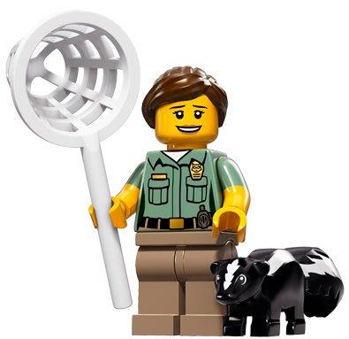 現貨【LEGO 樂高】積木/ Minifigures人偶系列: 15 代人偶包抽抽樂 71011   動物保育員+臭鼬