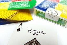 ~Bicycle Tetra Deck ~4 way fanning deck~ 808 撲克牌 四邊四色開扇牌