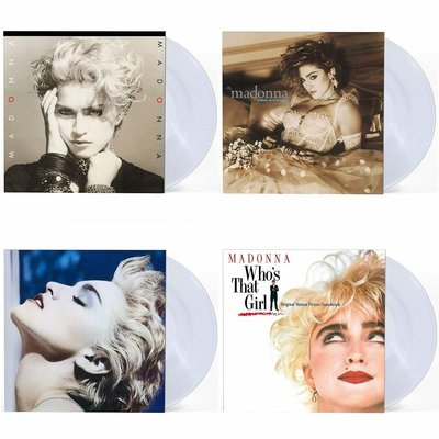 Madonna瑪丹娜同名專輯宛如處女忠實者那女孩是誰專輯LP透明膠唱片(4張不分售)