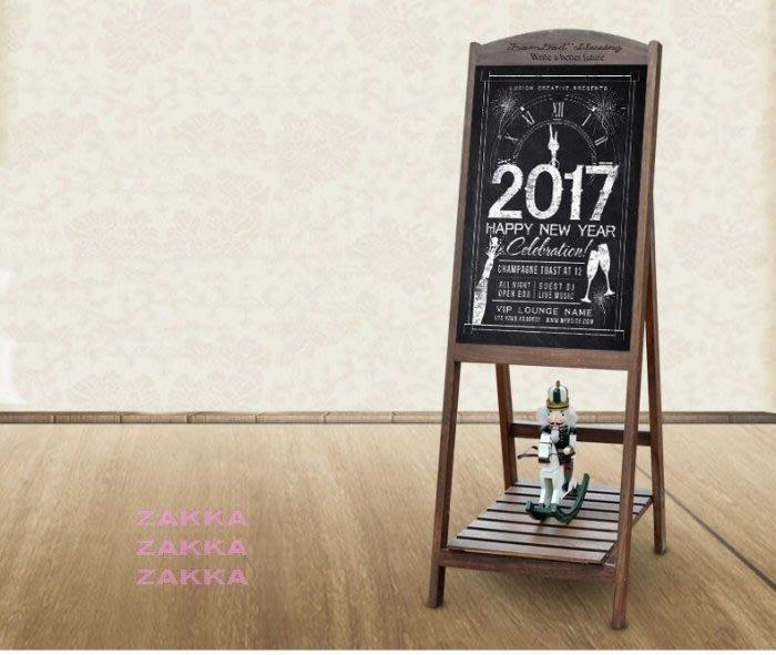 黑板/日式鄉村/Zakka/刷舊/站立式告示牌/菜單/民宿/餐廳 /咖啡/簡餐 /服飾店/免運♡幸福底家♡