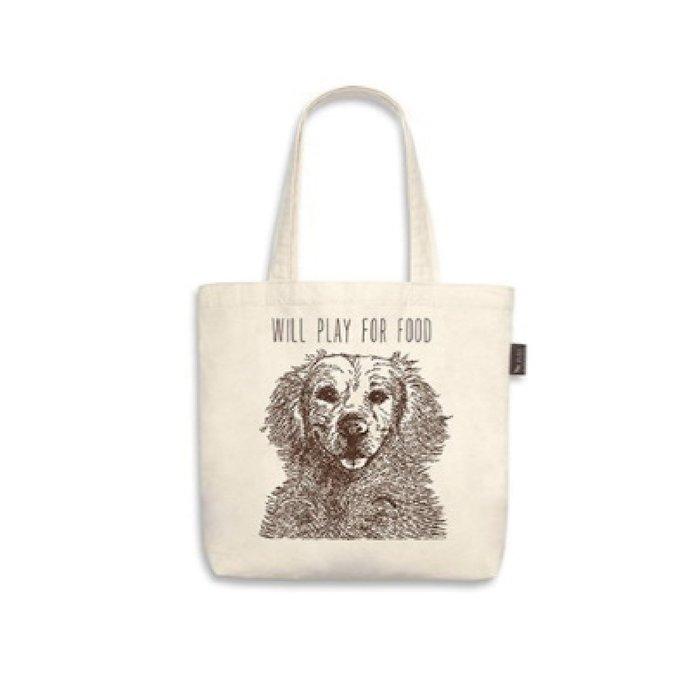 ☘小宅私物☘ 美國 P.L.A.Y. 環保購物袋 狗狗帆布包 黃金獵犬 單肩帆布袋 寵物提袋 現貨附發票