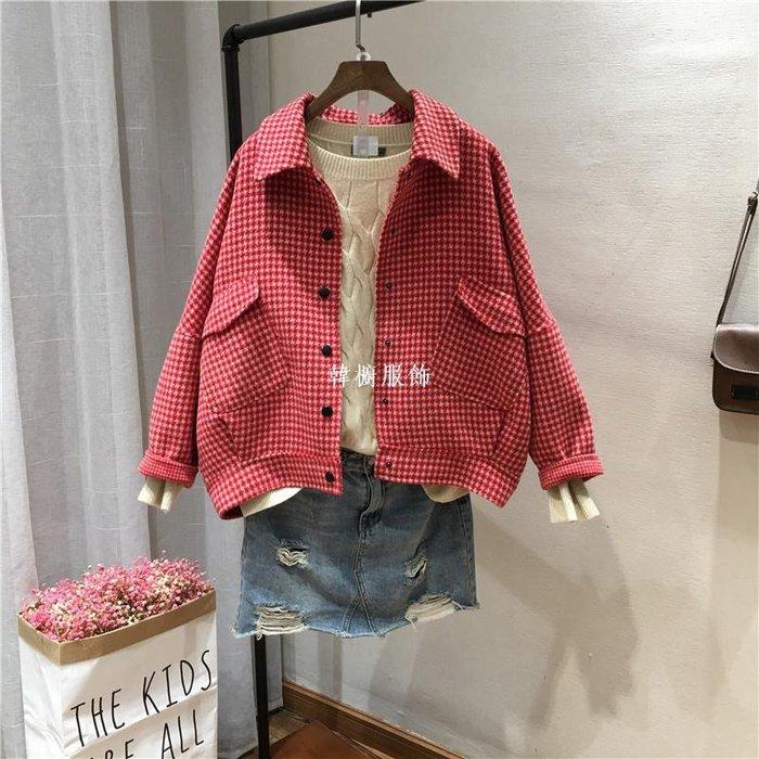 韓櫥服飾韓國東大門清新甜美微胖雙面羊絨大衣羊絨毛呢外套女3868冬裝棉衣