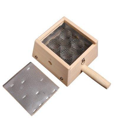 艾草針灸盒 艾灸器具-竹製四孔盒隨身灸盒溫多功能65j17[獨家進口][米蘭精品]