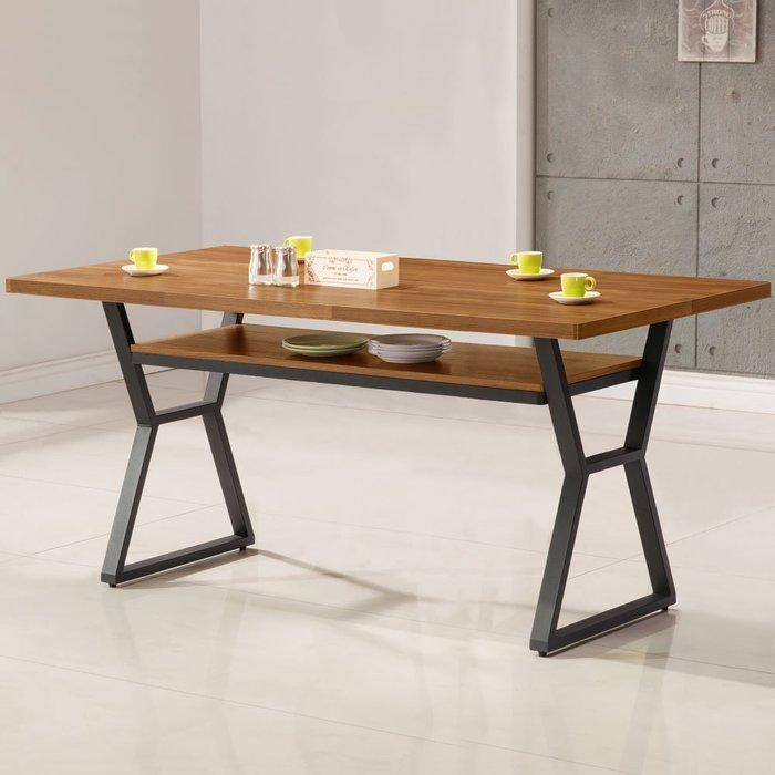 愛德琳工業風5尺餐桌 會議桌 書桌 【Yostyle】DS-1723-292