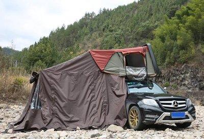 硬頂秒開3-4人車頂帳 汽車車頂帳篷配件 延伸帳篷 落地帳篷 連接帳篷