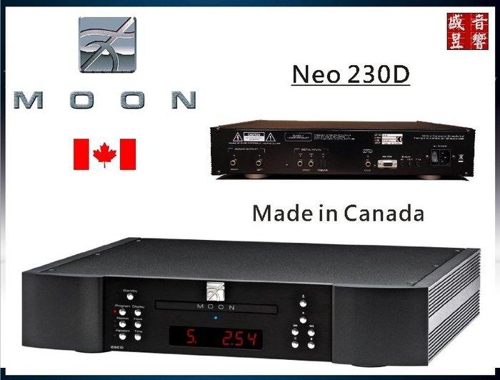 盛昱音響【現貨不用等│購買前請先洽實售價】加拿大 Moon neo 230D CD播放機 #可自取