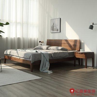 [紅蘋果傢俱]HM005 5尺床/6尺床 床架 北歐風床架 日式床架 實木床架 無印風 簡約風
