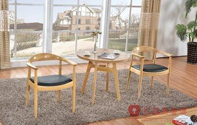 [紅蘋果傢俱] CZ-006 總統椅  北歐餐椅 餐椅  全實木白蠟木 圓几