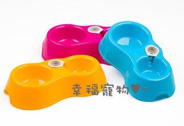 幸福♥SHOP 可插水瓶寵物用碗 兩用狗貓碗自動飲水器 雙口碗 寵物餐具