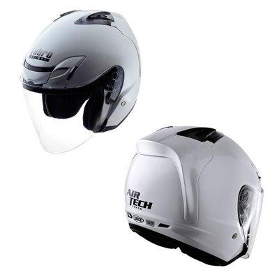 【 機車族 】LUBRO安全帽-AIR TECH-VENTO 3/4罩 通風 內襯可拆 ( 白色)免運費