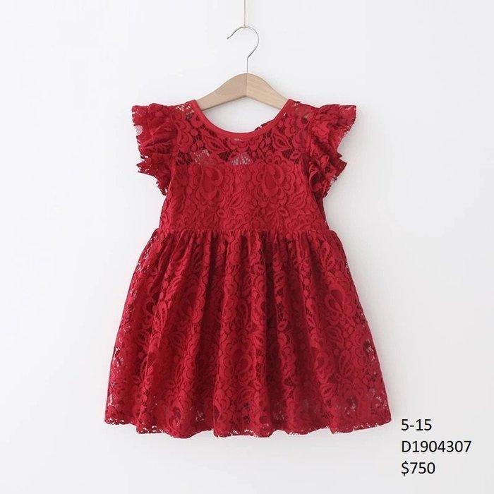 【Girl】 JC BABY 氣質花邊蕾絲洋裝(共三色) #D1904307