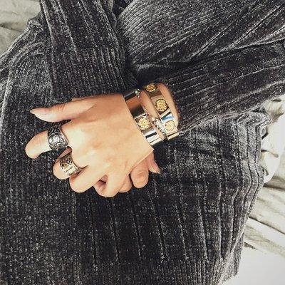 戒指 美式復古風阿美咔嘰Amekaji 納瓦霍Navajo古硬幣頂針情侶男女戒指 時尚搬運工